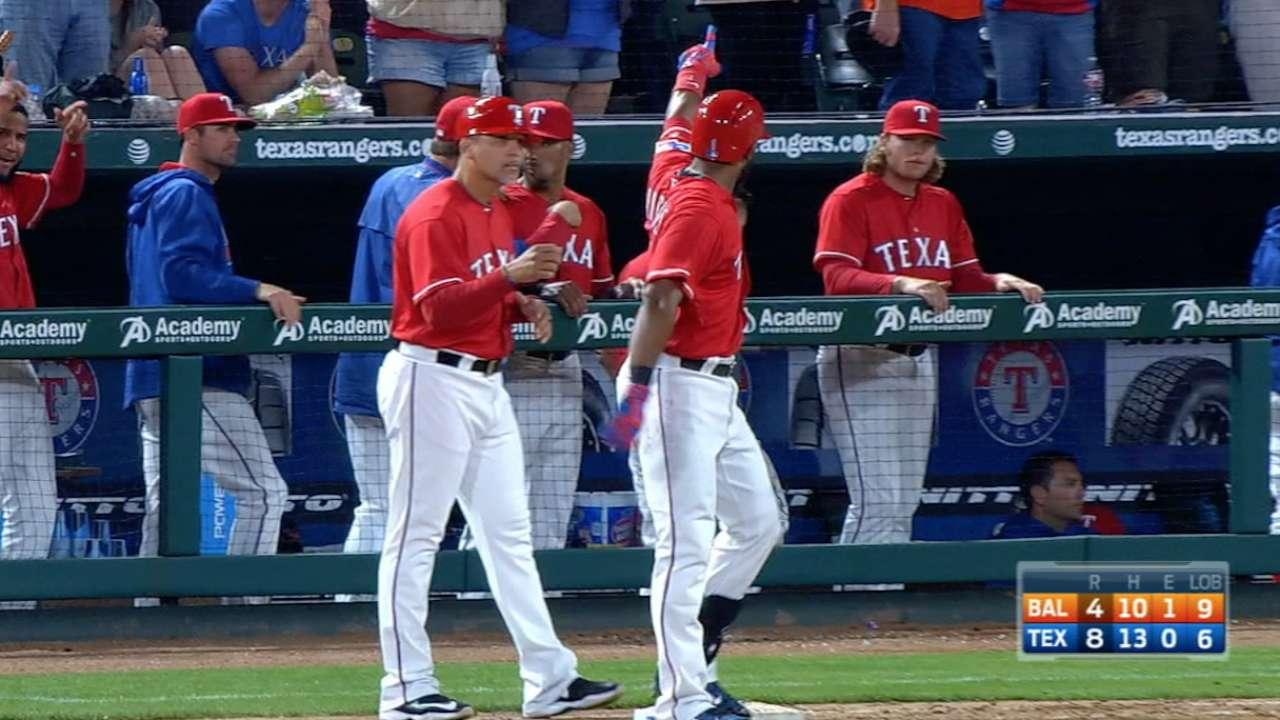 Texas stings homer-happy O's with six-run 7th