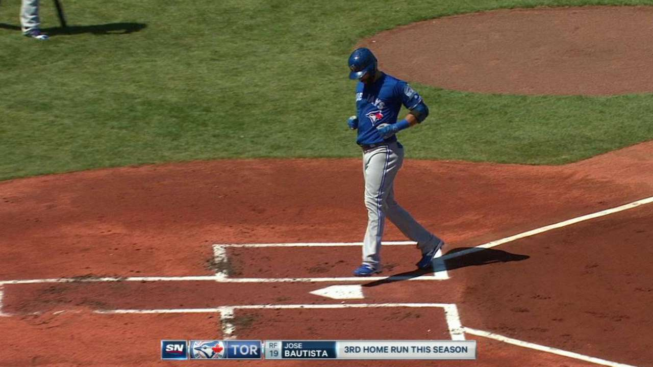Stats of the Day: Bautista, before and after