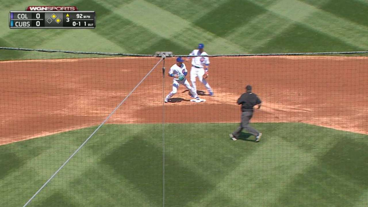 Baez turns two to end third