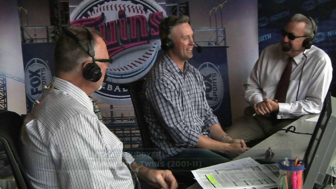 Cuddyer joins the Twins' booth
