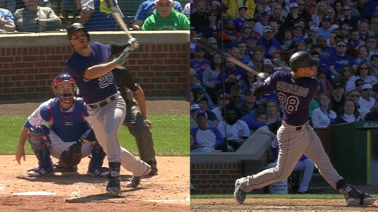 Arenado's 2 homers a belated birthday gift