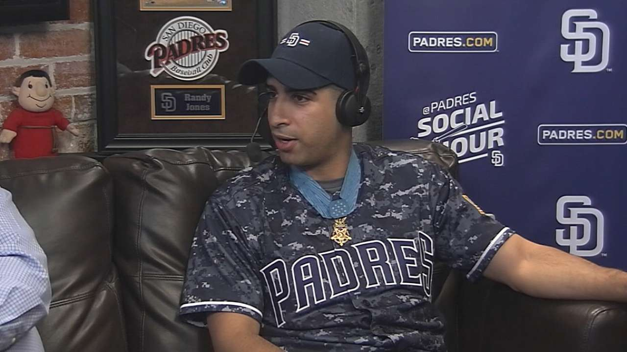 Padres Social Hour: Captain Florent Groberg