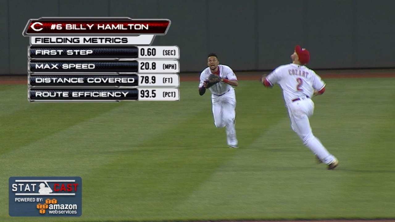 Hamilton's fielding gems ease shoulder concerns