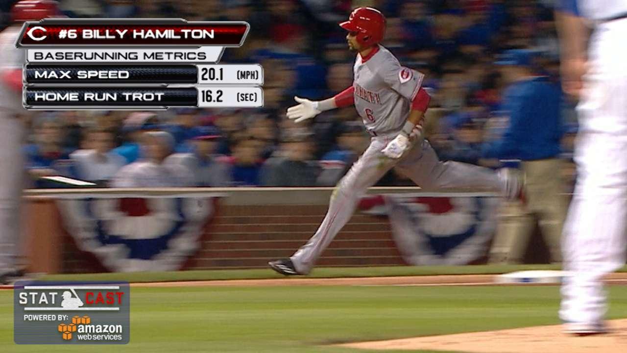 Statcast: Hamilton's homer