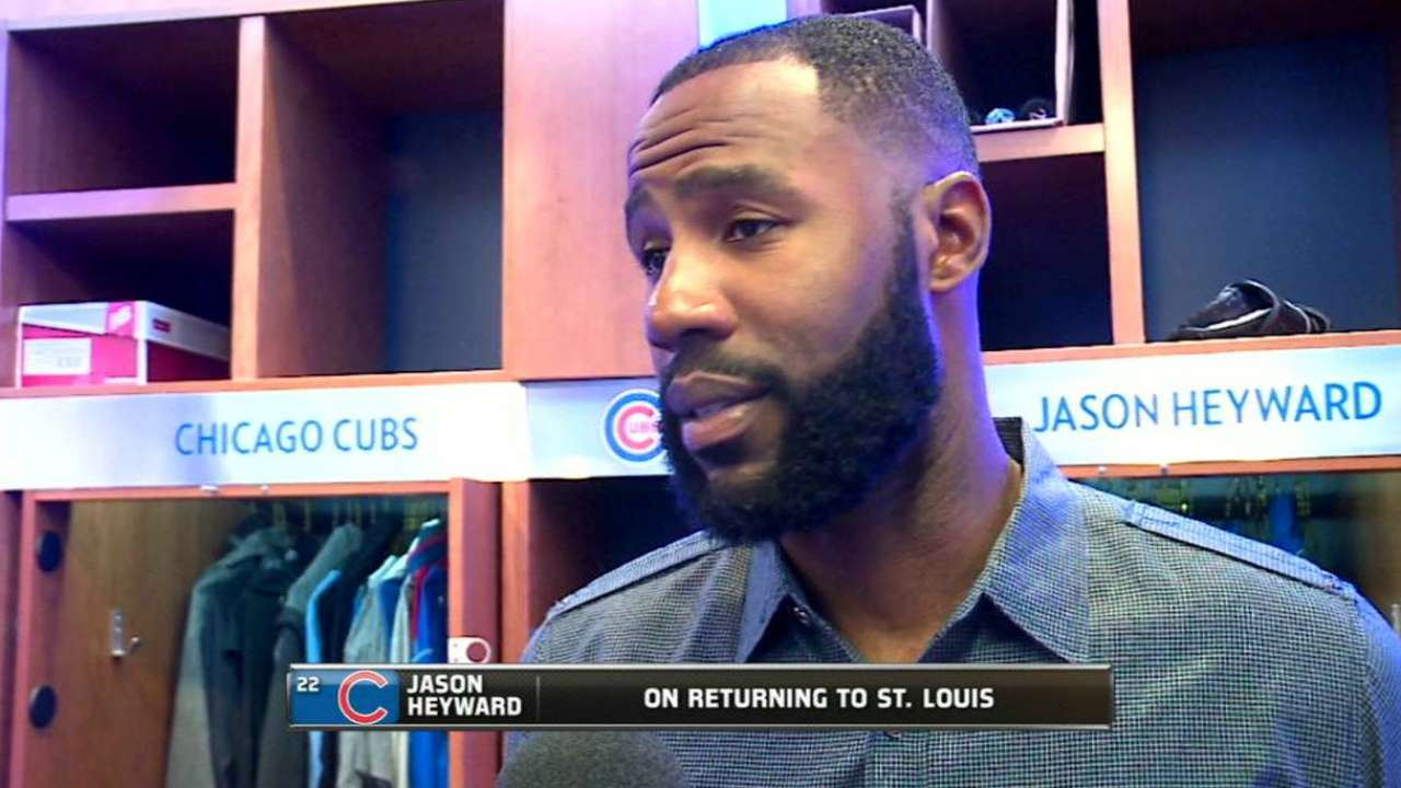 Heyward back in St. Louis on other side of rivalry
