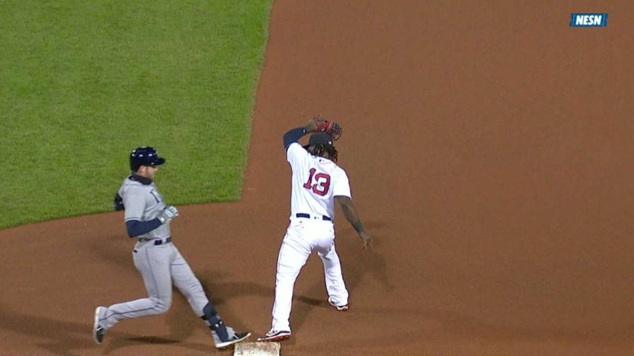 Longo out at first