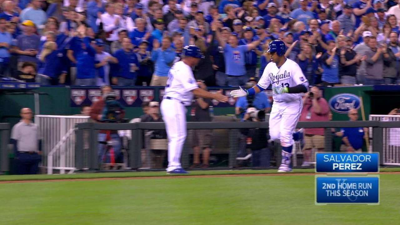 Salvy's 5-RBI night leads Royals past Tigers
