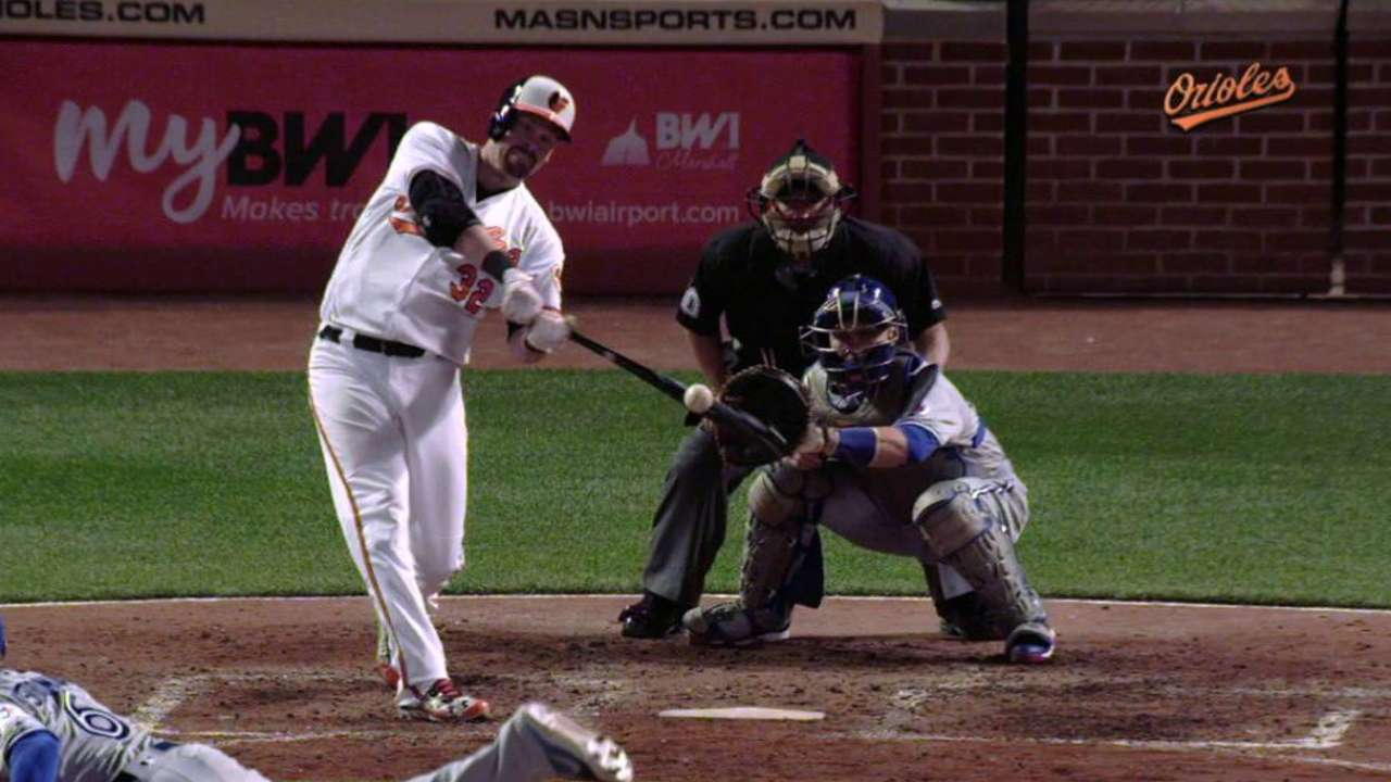 Wieters' first homer a welcome-back gift