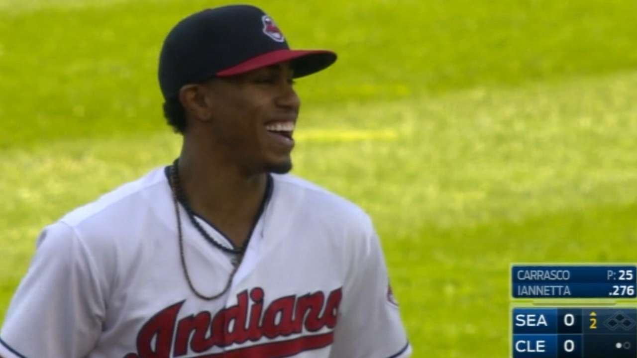 Lindor flashes the leather