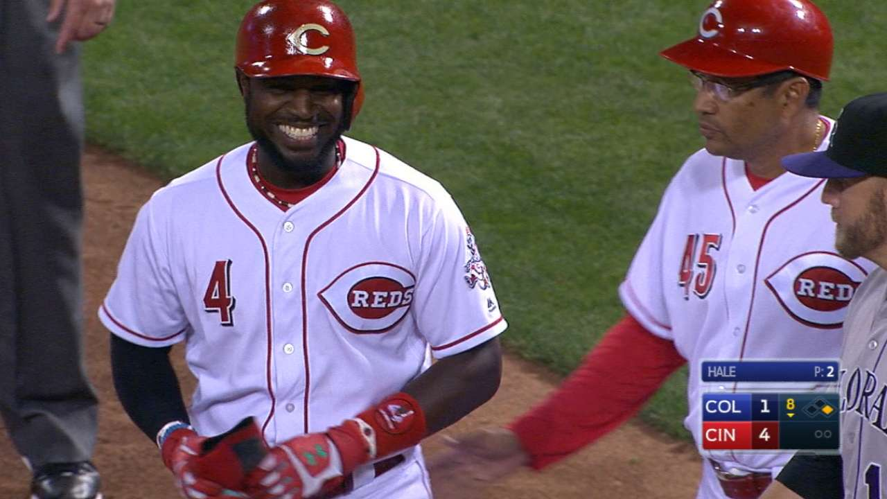 Phillips' four-hit game