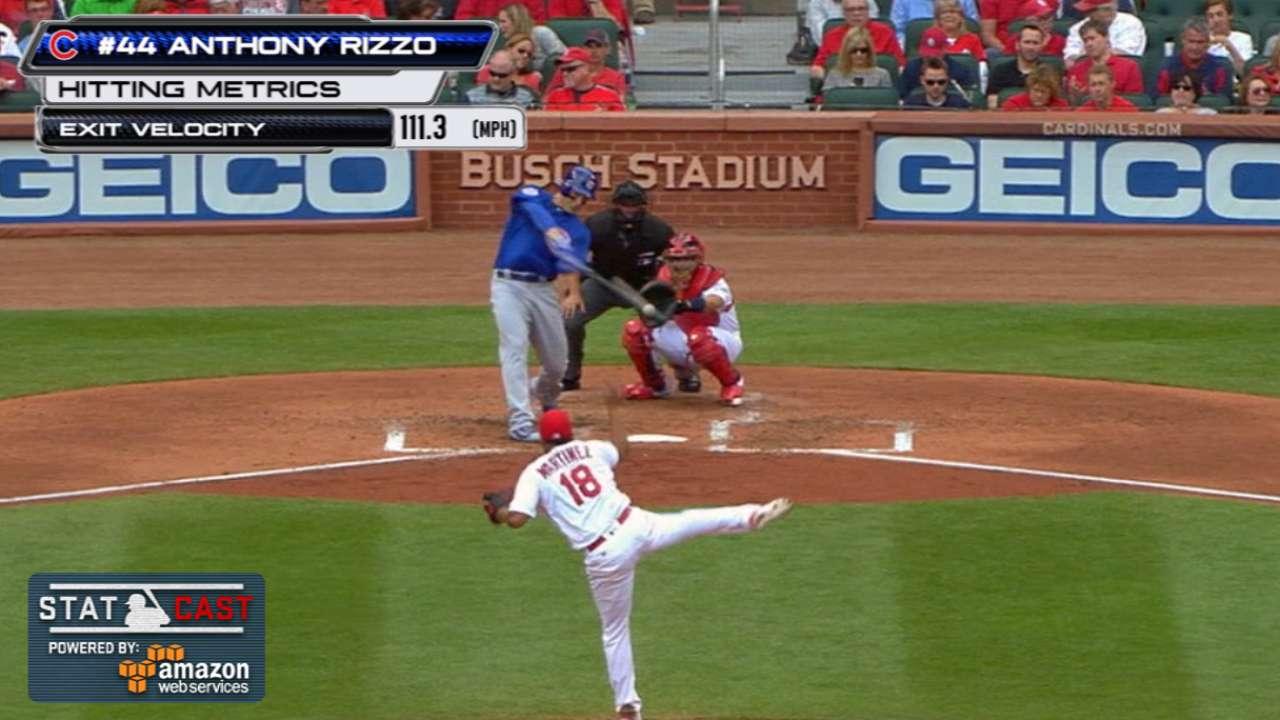 Statcast: Rizzo's solo home run