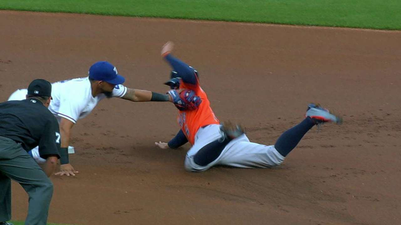 Holaday finishes off double play