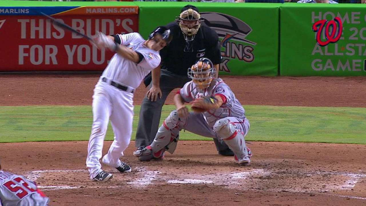 Dietrich's blast not enough for Marlins offense