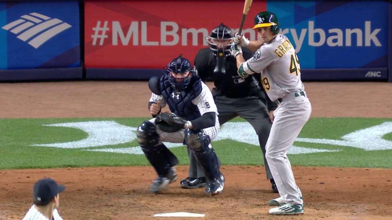 El pitcher Kendall Graveman se vio obligado a batear en Yankee Stadium