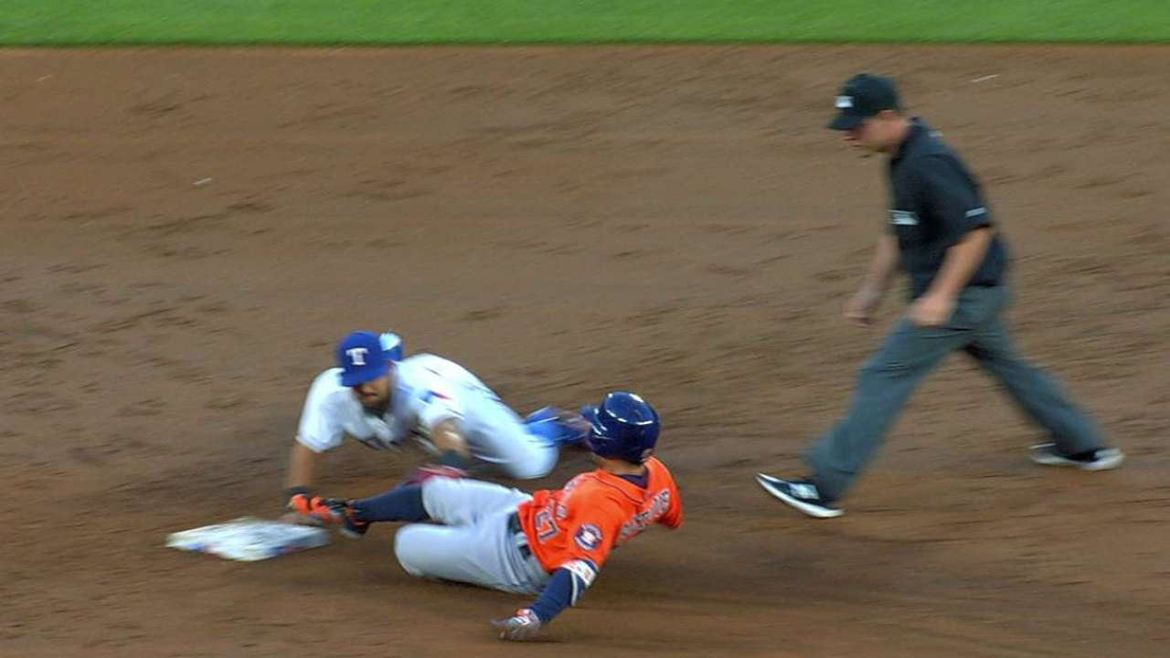 Desmond nails Altuve at second