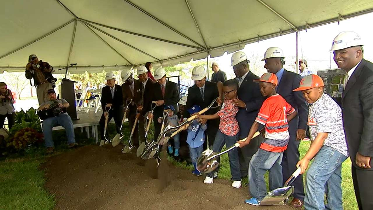 Moore, Royals join in UYA groundbreaking ceremony