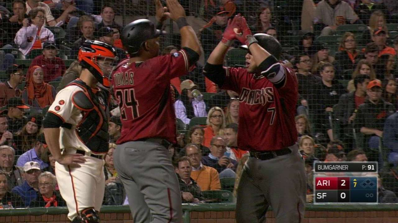 Castillo pega HR y D-backs hilan su 4ta victoria
