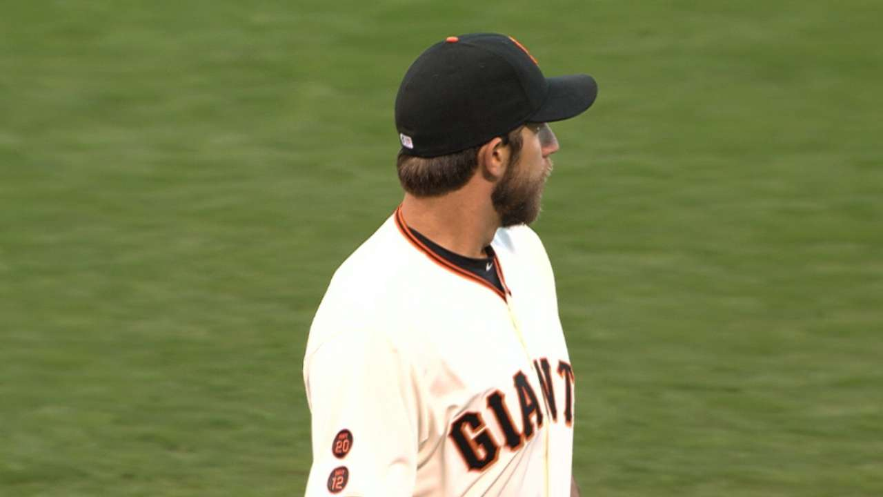 Bumgarner strikes out eight