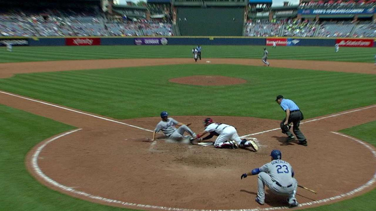 Francoeur throws Kershaw out