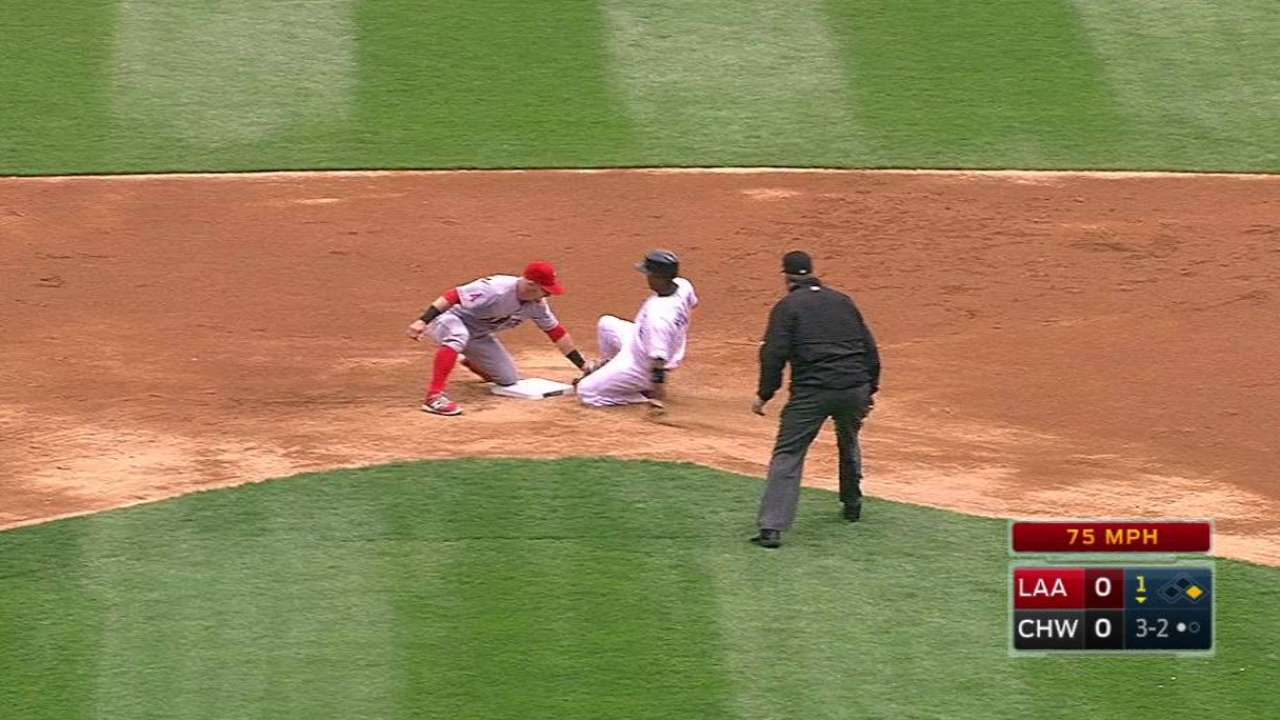 Angels turn a double play