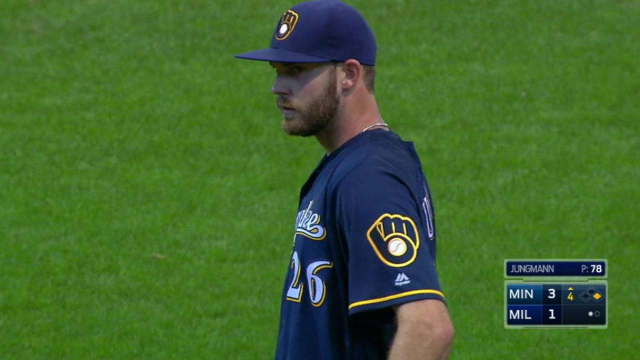 Jungmann rejoins Brewers with clearer mind