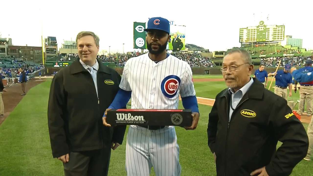 Heyward honored for glovework
