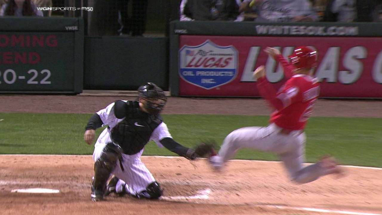 Eaton throws out Simmons at home