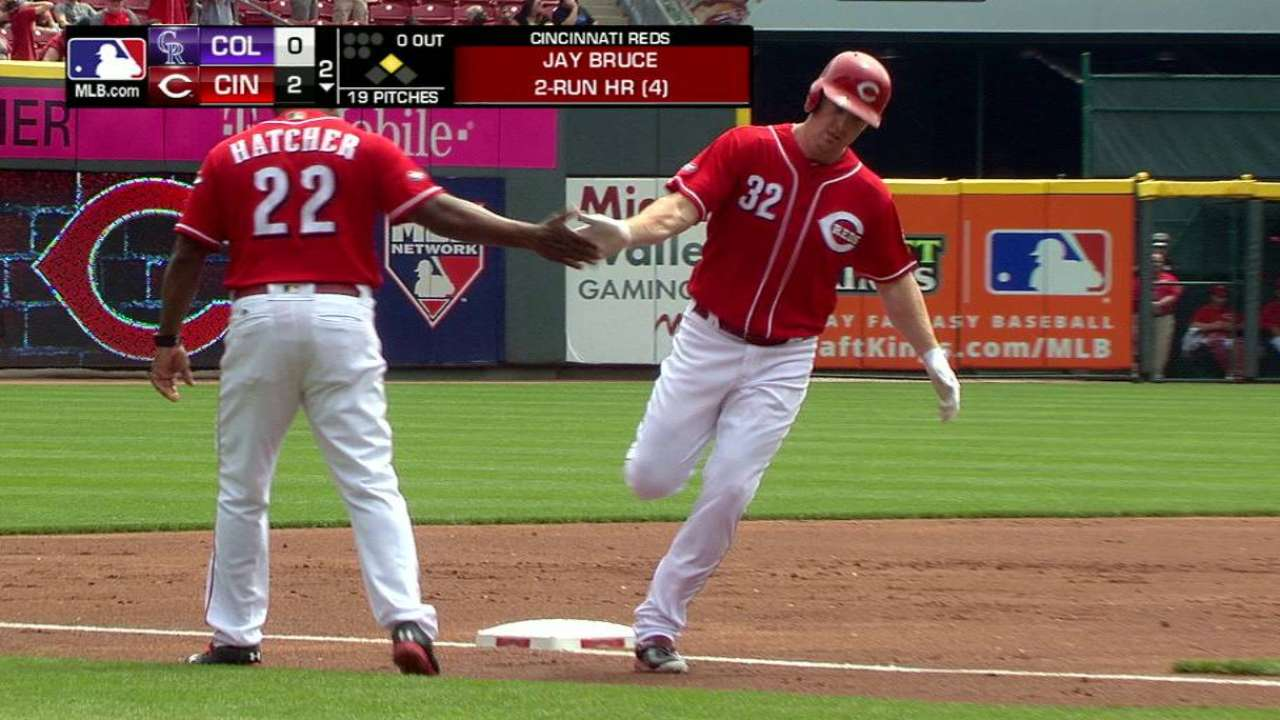Bruce to paternity list; Reds recall Somsen