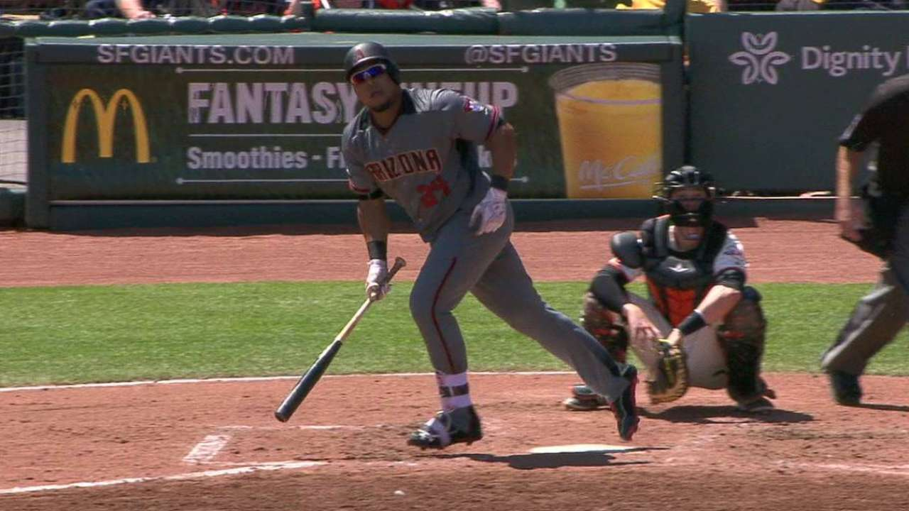 D-backs lifted to sweep of Giants by homer
