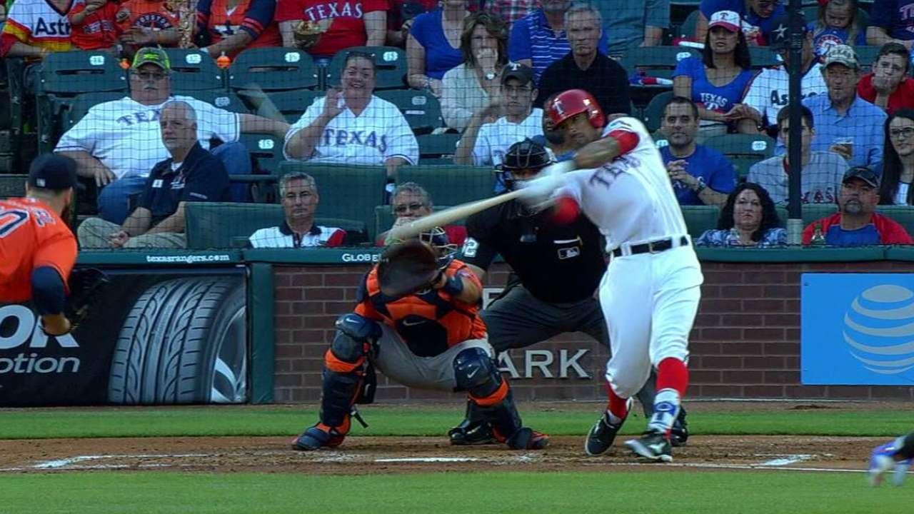 Rangers pound Keuchel for Lone Star sweep