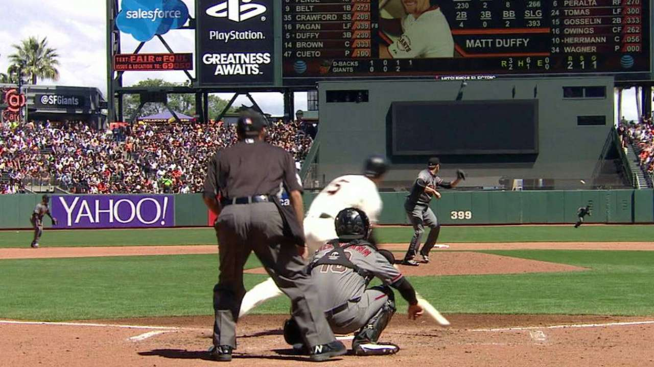 Brief break, hitting work revives Duffy's bat