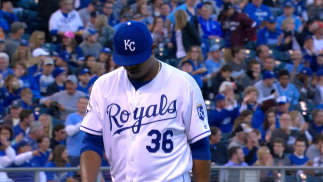 Volquez, strong D help Royals blank Tigers