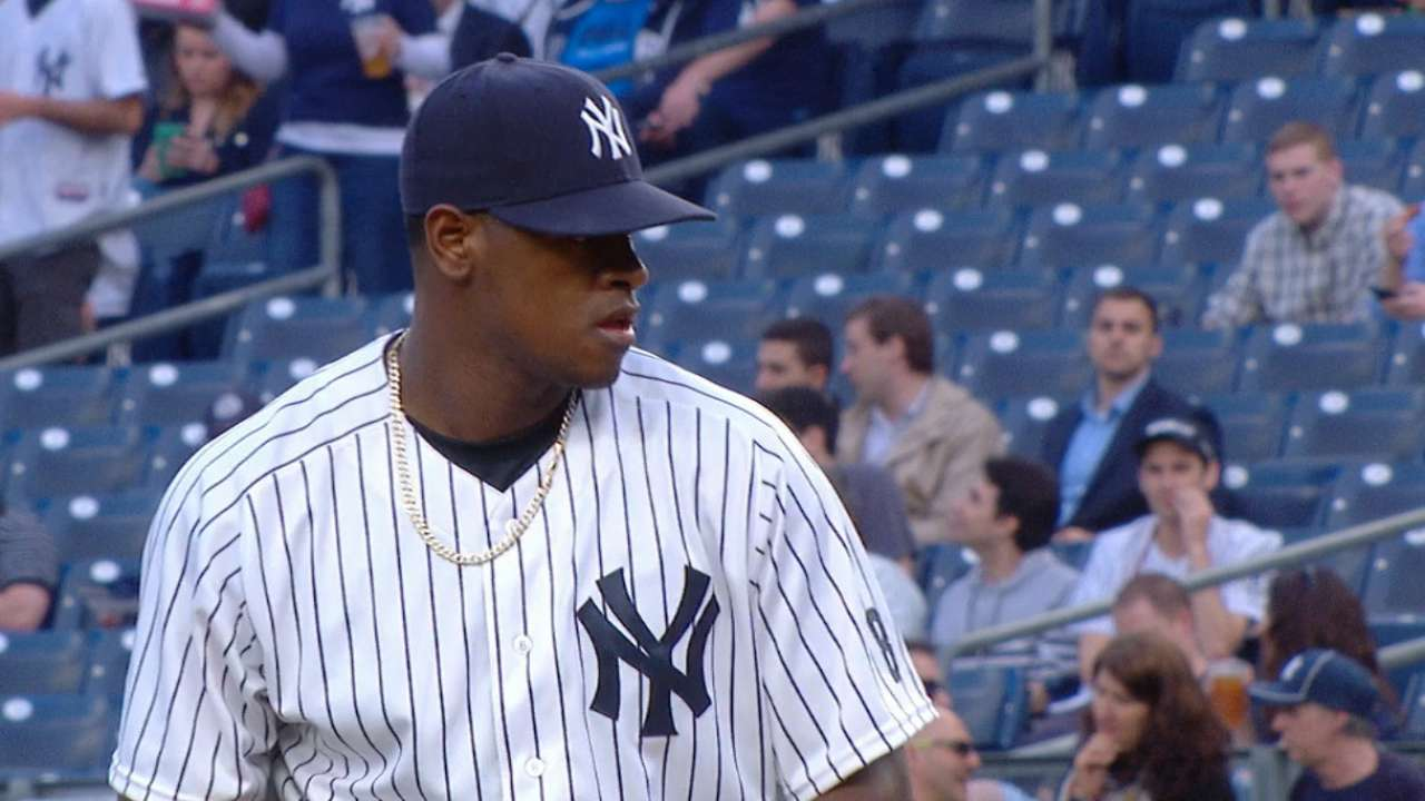 Severino holds A's to two runs