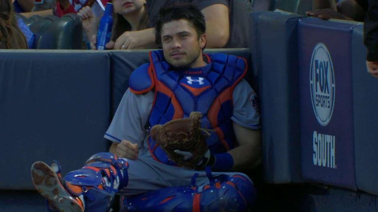 d'Arnaud returns; Mets option Plawecki