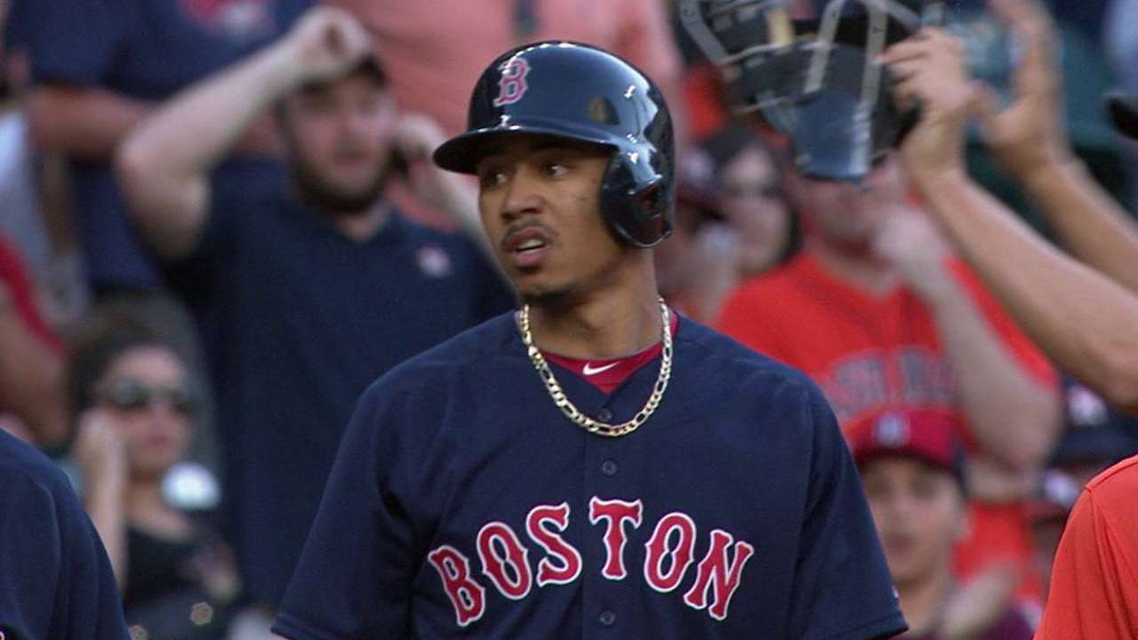Betts leads off with triple