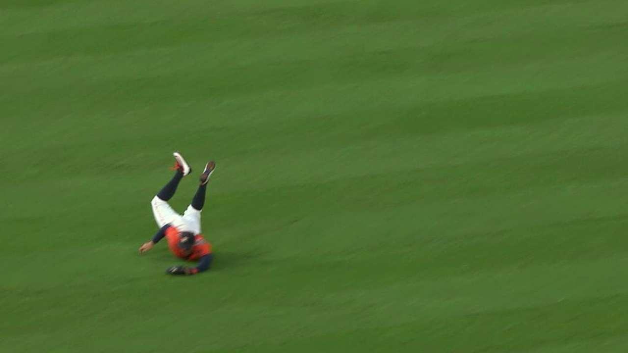 Springer's diving catch