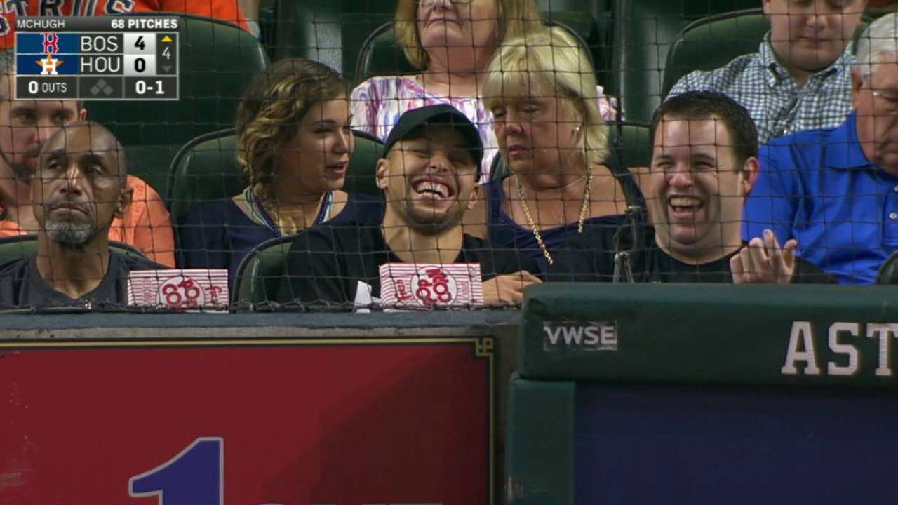 Curry attends Astros' game