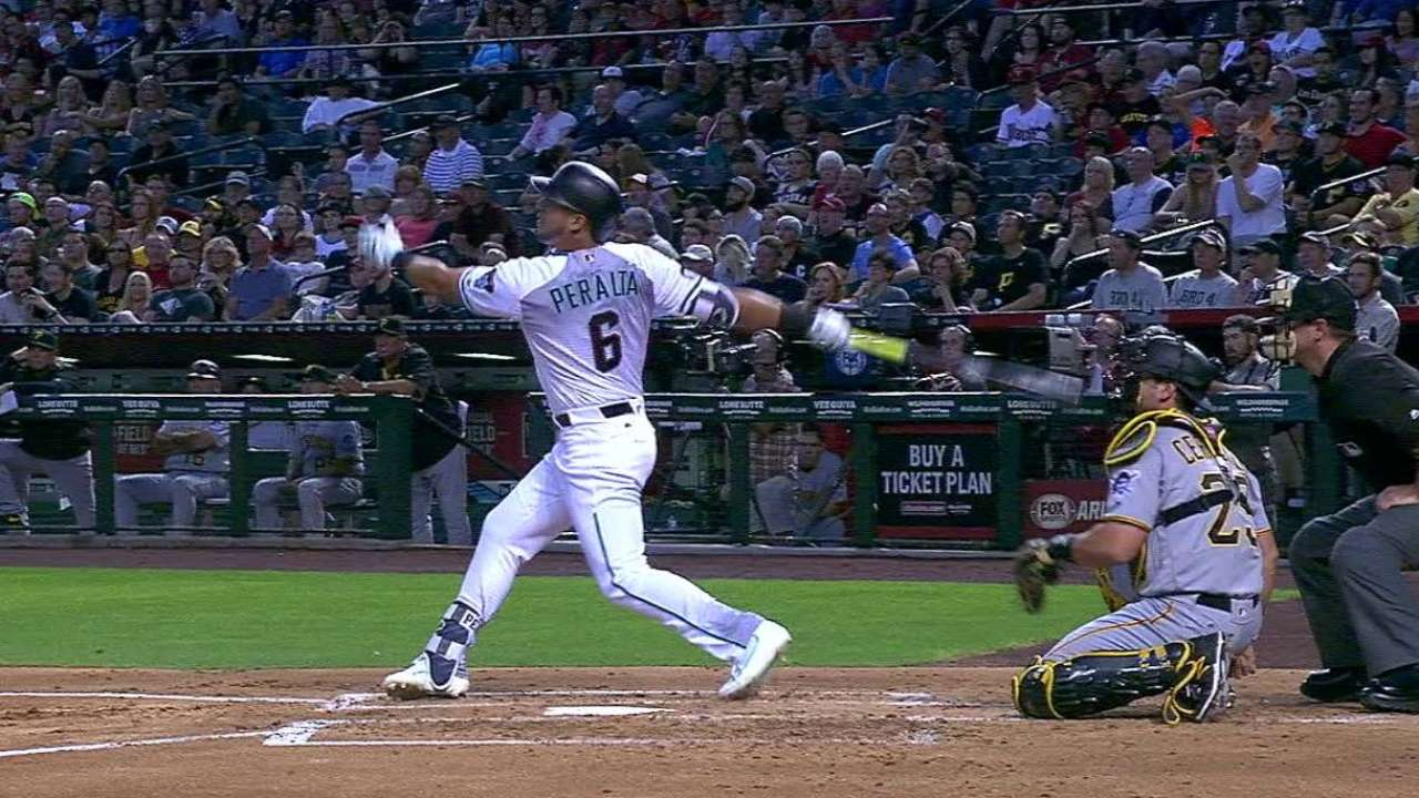 Peralta's first homer of 2016