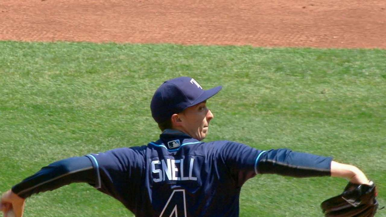 Snell's first career strikeout