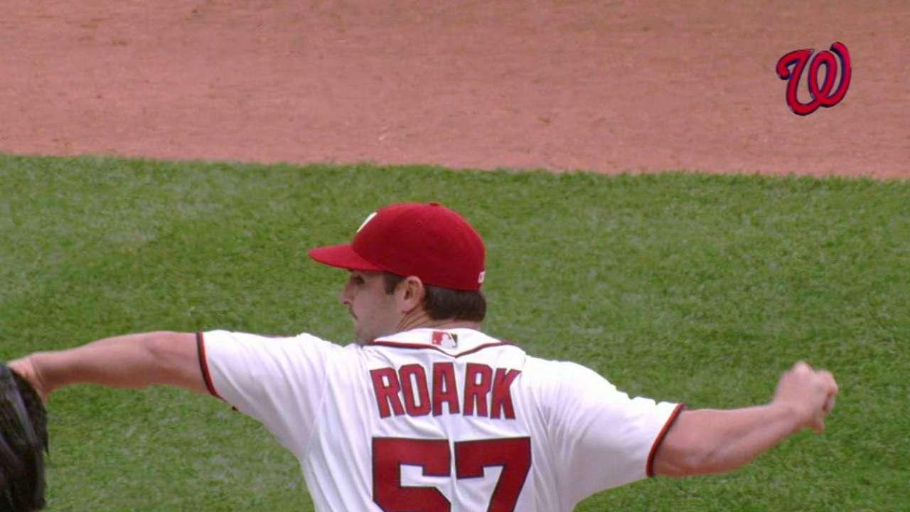 Roark's 15th strikeout