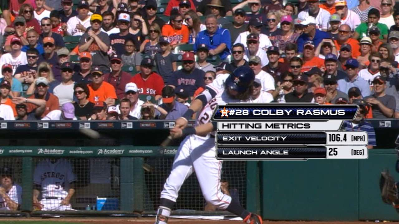 Statcast: Rasmus slams Red Sox