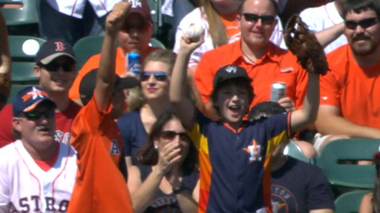 Springer makes young fans' day