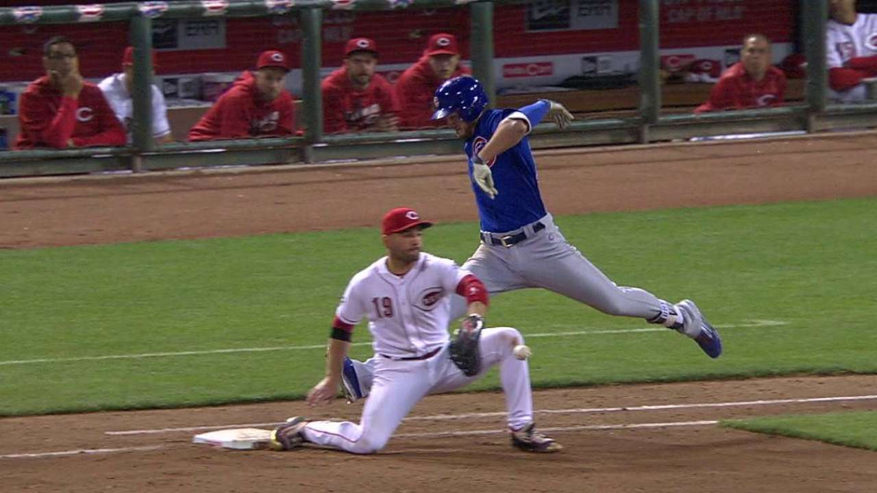 Cozart's backhanded stop