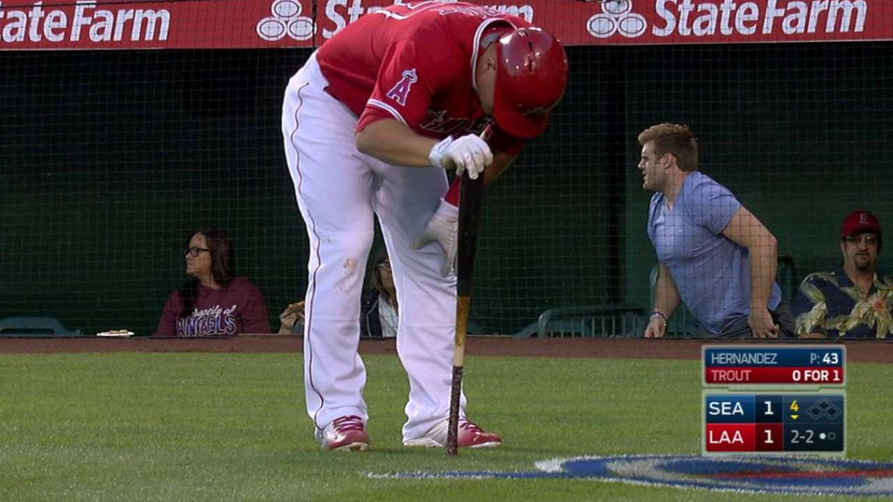Trout gets shaken up
