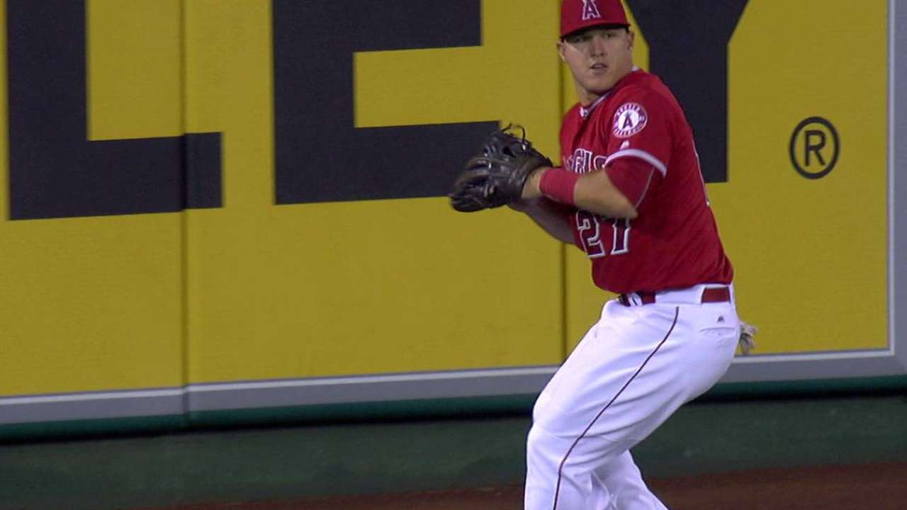 Trout's spectacular throw