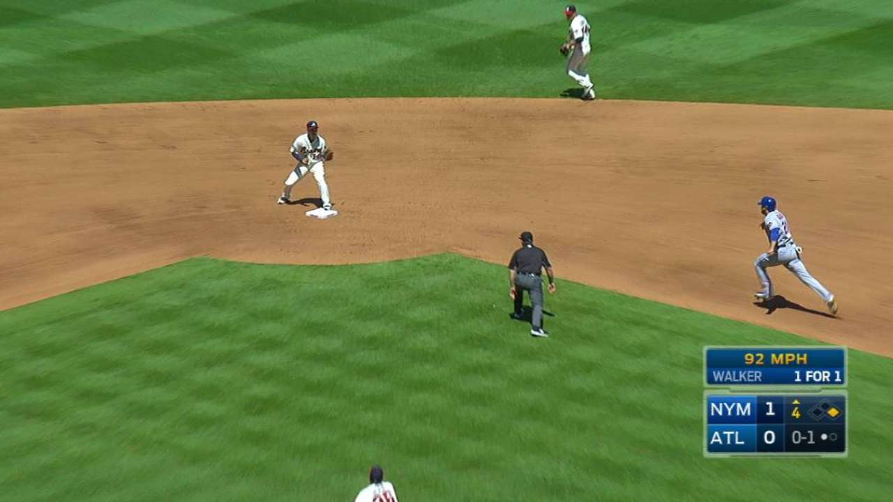 Blair induces double play