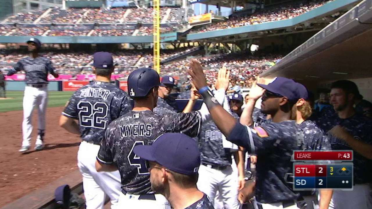 Myers scores on groundout