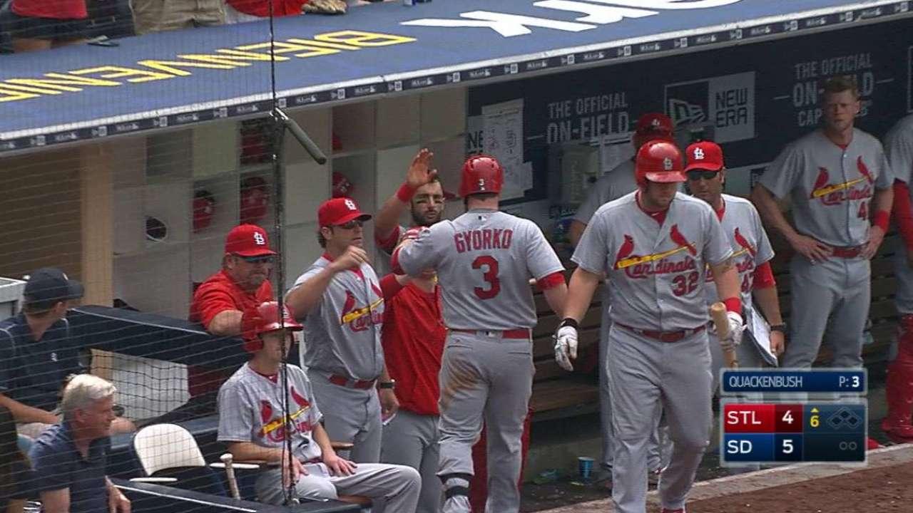 Return to San Diego ignites Gyorko's bat