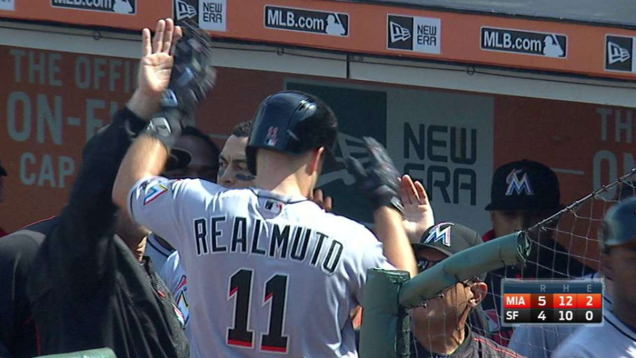 Realmuto's homer lifts Marlins over Giants