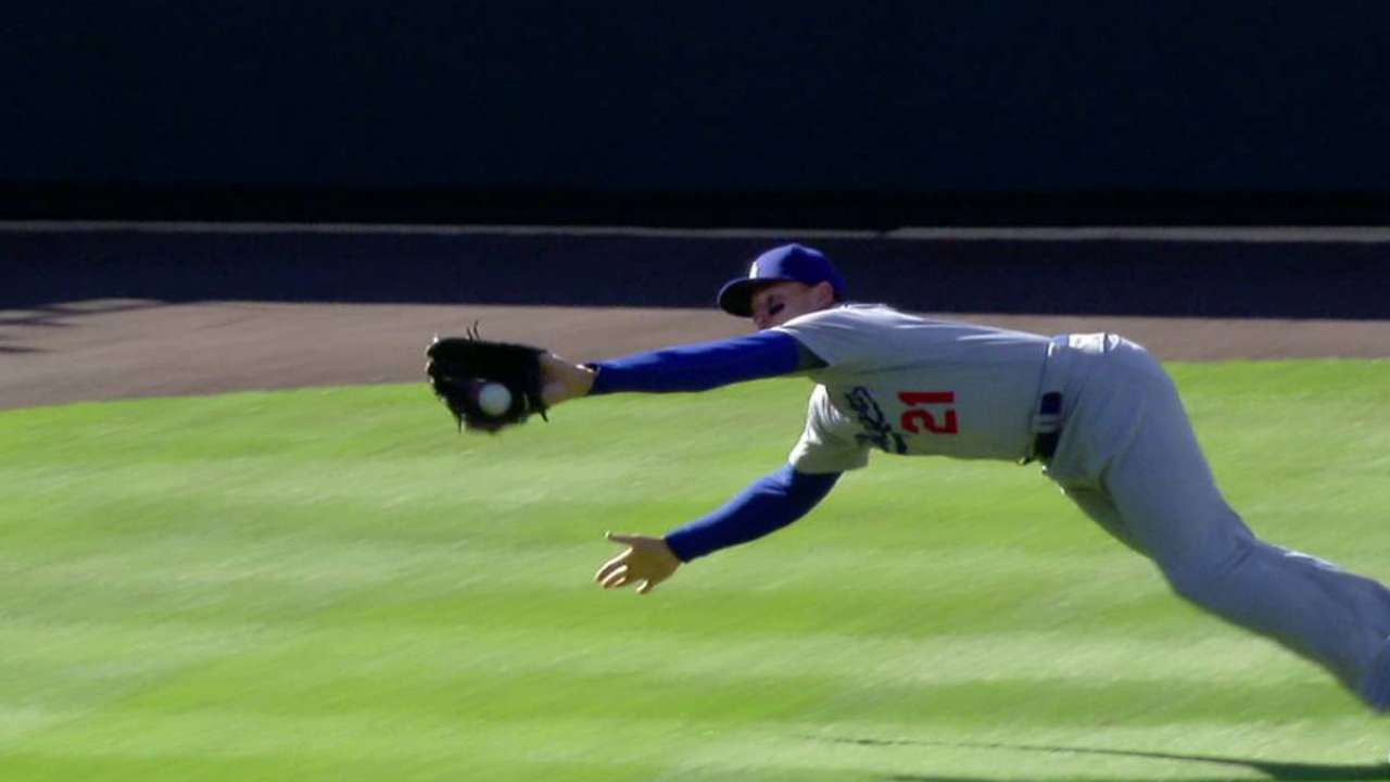 Thompson's diving catch